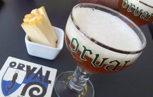 Genieten van Orval bier en Orval Kaas
