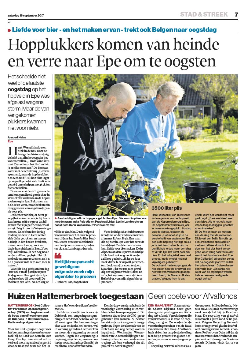 Artikel De Stentor Hopoogst