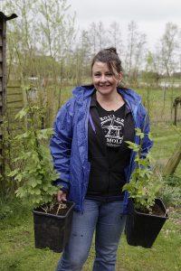 hopplanten kopen: Petra slaat haar slag