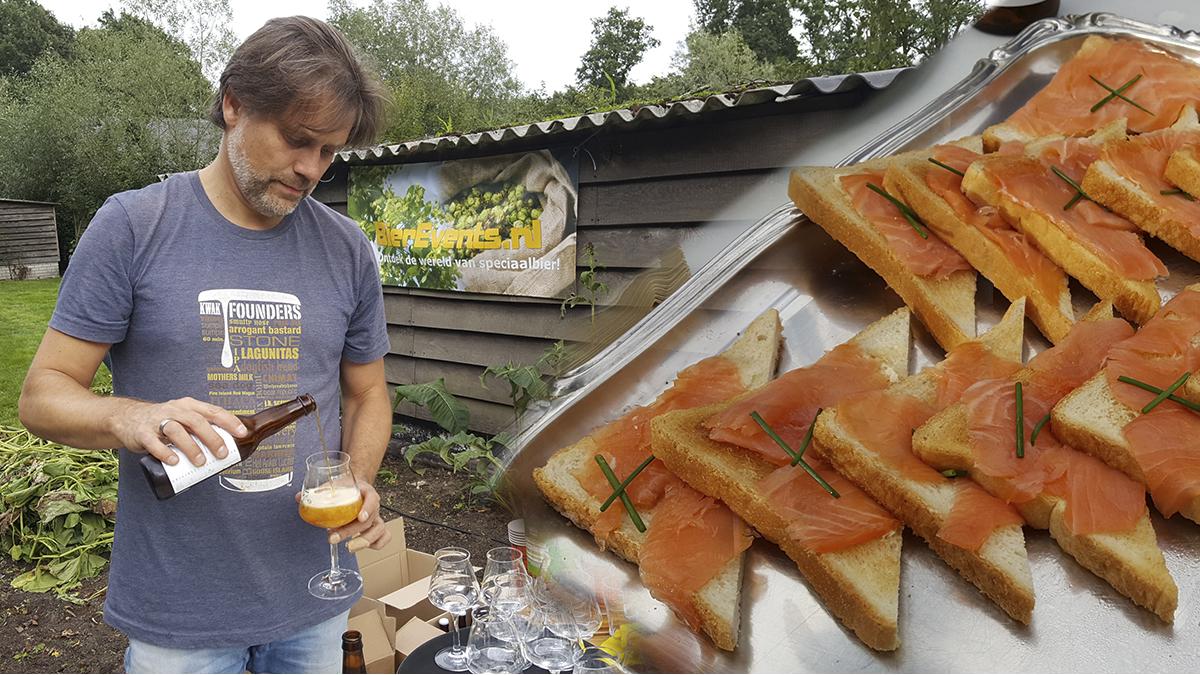 Bieren proeven van het Epe Bier Collectief